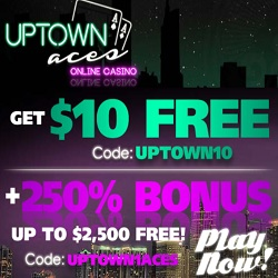 Uptown Aces casino $25 free on sign up